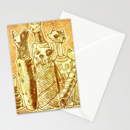 cat mummies yellow Stationery Cards