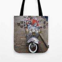 vespa Tote Bags featuring Vespa by Organdie