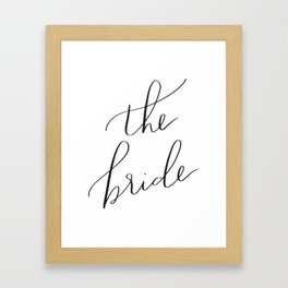 the bride Framed Art Print