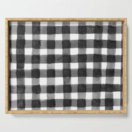 Black and White Gingham Serving Tray