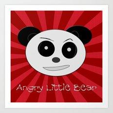 Angry Little Bear 1 Art Print