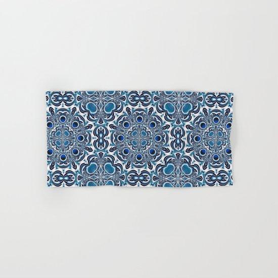 Snowflake fractal pattern Hand & Bath Towel
