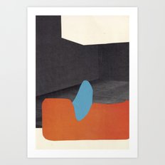 Orange and blue creature Art Print