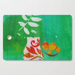 Fern & Peaches Still Life Cutting Board