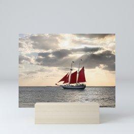 Sailboat Sunset  Mini Art Print
