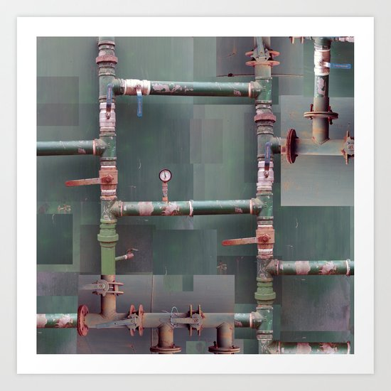 Industrial veins Art Print