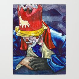 Thinking Clown Poster