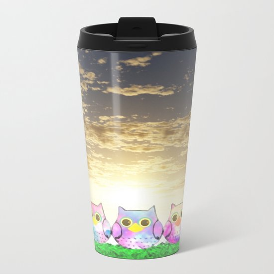 owl-192 Metal Travel Mug