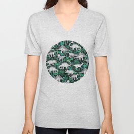 Dinosaur Jungle Unisex V-Neck