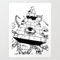 pyramid Art Prints featuring Pyramid by FactoriesFarAway