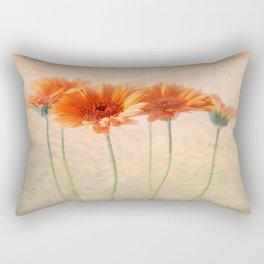 Orange Gerberas Rectangular Pillow