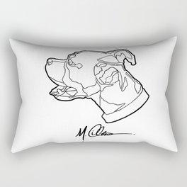 #AveryTheBoxer (M. Clement The Artist Logo) Rectangular Pillow