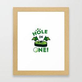 Funny Golf Gift Golfer Golfing Hole In One Framed Art Print
