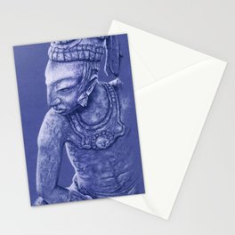 mayan nobleman blue Stationery Cards