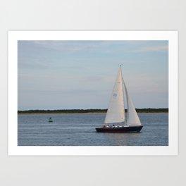 Nantucket Sail boat Art Print