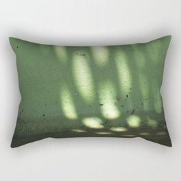 Green Light Spots Rectangular Pillow