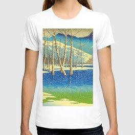 Kawase Hasui Vintage Japanese Woodblock Print T-shirt