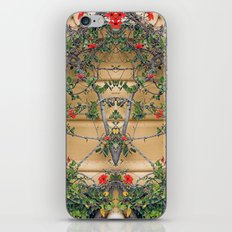 Red flowers on the yellow wall iPhone & iPod Skin