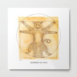 Leopardo da Vinci Metal Print