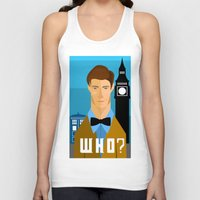 the who Tank Tops featuring Who? by Mountain Top Designs