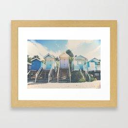 beach huts photograph Framed Art Print