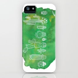 Cacti Line Up iPhone Case