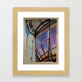 Sunset on the Lighthouse Lens Framed Art Print