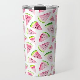 Watercolor Watermelon Pattern Travel Mug