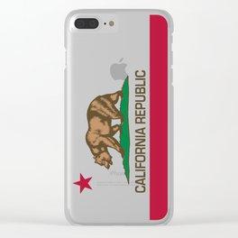 California Republic Flag - Bear Flag Clear iPhone Case