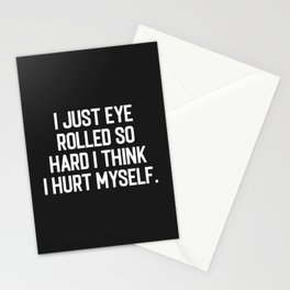 Eye Rolled So Hard Funny Quote Stationery Cards