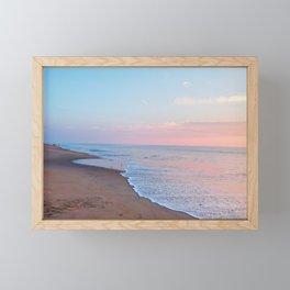 Pink ocean sunrise - minimalist landscape photography | Rehoboth Beach, DE Framed Mini Art Print