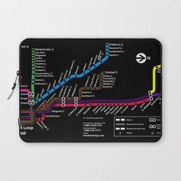 CTA MAP - Black Laptop Sleeve