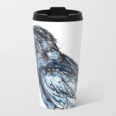 Crow with Blue Travel Mug