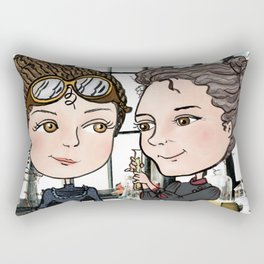 Woman in Science: The Curies Rectangular Pillow