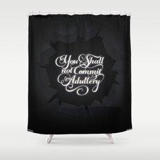 The Seventh Commandment Shower Curtain