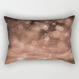 Sherwin Williams Cavern Clay Whimsical Glowing Orb Sparkles Rectangular Pillow