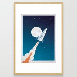 Rocket Launch Framed Art Print