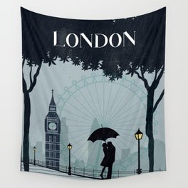 London vintage poster travel Wall Tapestry