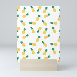 PINEAPPLE ANANAS FRUIT FOOD PATTERN Mini Art Print