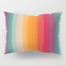 Retro Rainbow Striped Pattern Pillow Sham