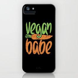 Vegan Babe, Girl, Plant Based Design iPhone Case