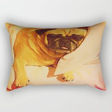 PUG LOVE: Will you bring me breakfast in bed? Rectangular Pillow