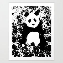 Monochromatic Panda Art Print