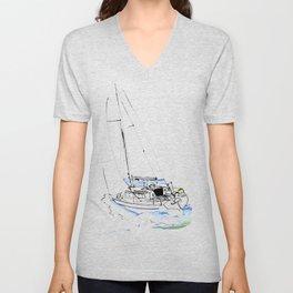 Cirrus/ Sailingboat Unisex V-Neck