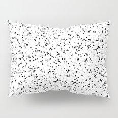 Speckles I: Double Black on White Pillow Sham