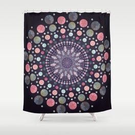 Marble Stone   Geo Inspired Dot Mandala   Oddly Beautiful Manadala Collection Shower Curtain