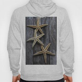 Starfishes in wooden Hoody