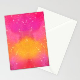 Pink-yellow pattern Stationery Cards