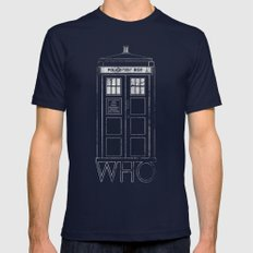 Doctor WHO Navy Mens Fitted Tee LARGE