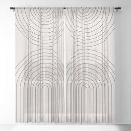 Arch Art Sheer Curtain